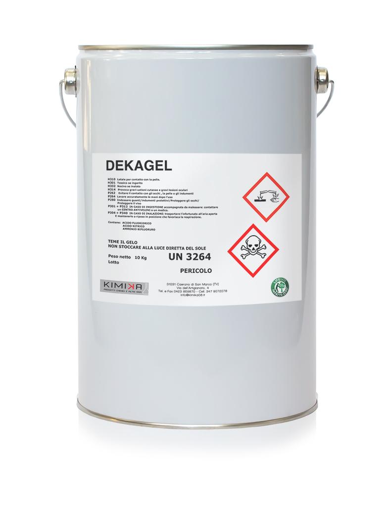 Decapante per la pulizia dell'acciaio - Dekagel DKG010