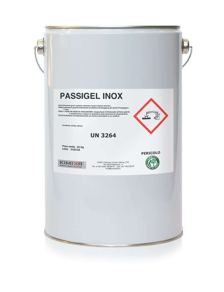 Passivante per la pulizia acciaio - Passigel Inox PSG010
