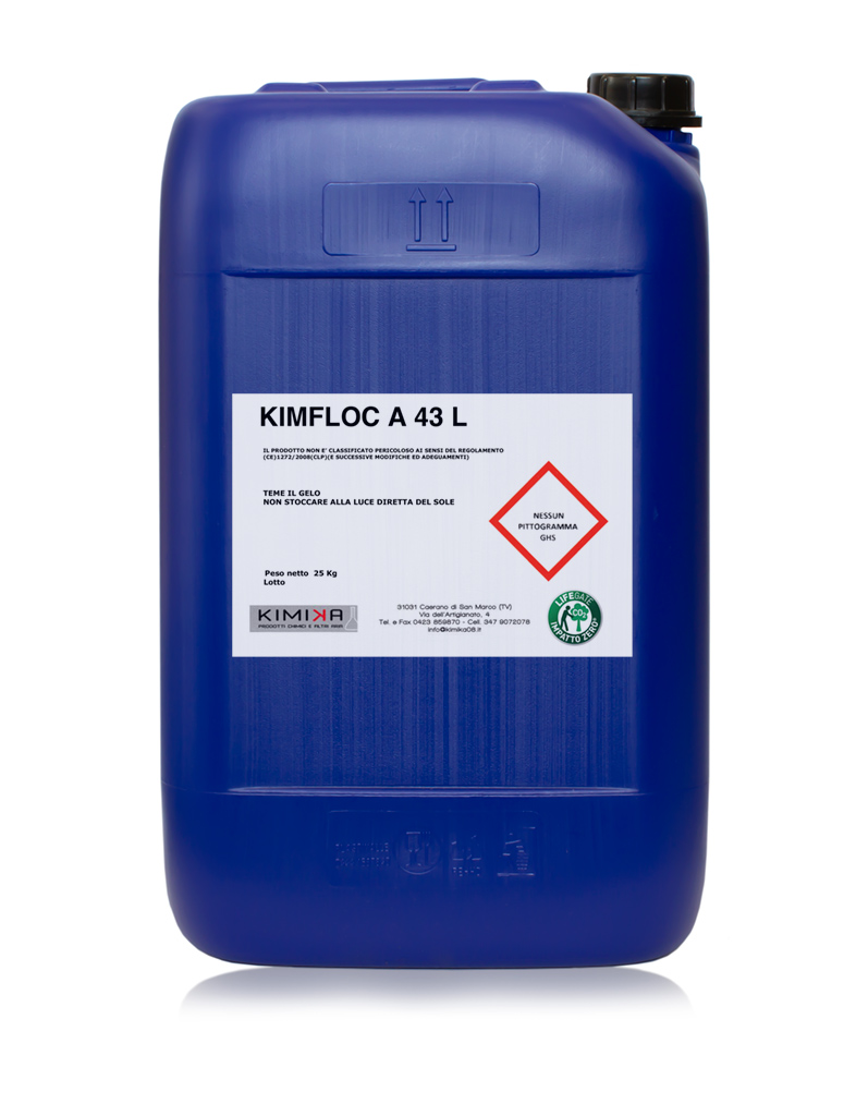 Flocculante per la depurazione delle acque reflue - Kimfloc A 43 L KFA43L