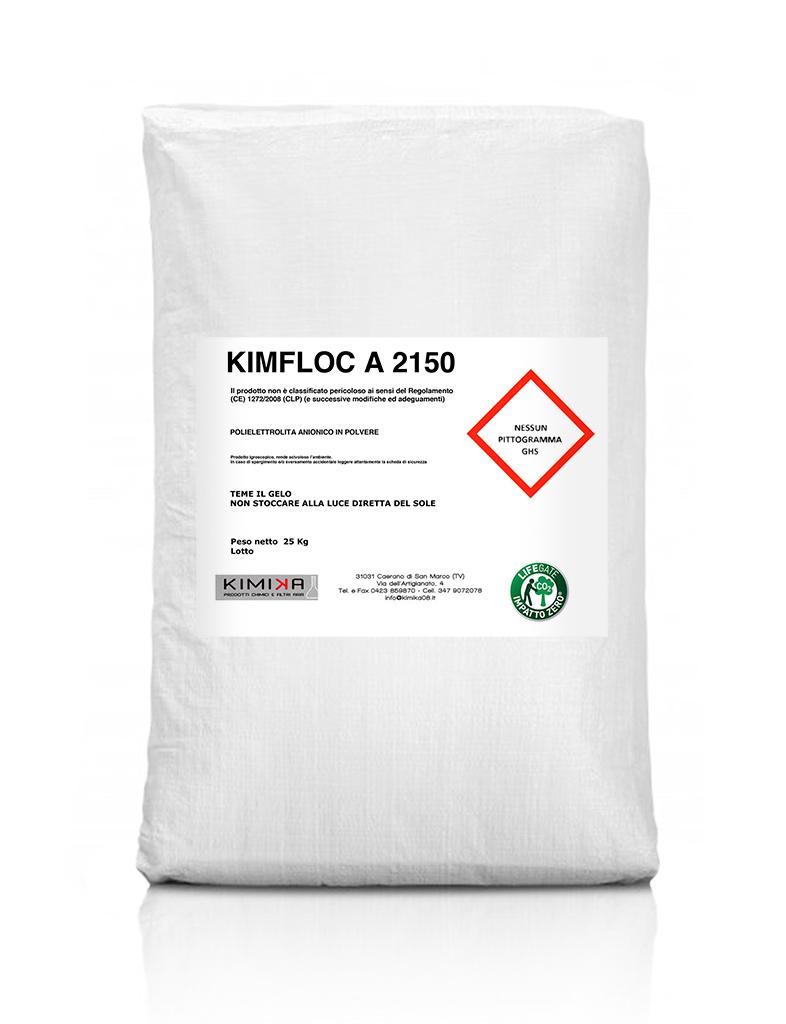 Polielettrolita anionico polvere depurazione acque - kimfloc A 2150 KFA2150